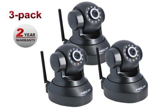 Foscam Netzwerkkamera–Kabellos FI8918W, fünften CMOS, Ziel 2,8mm, 60°-Blickwinkel, Schwarz