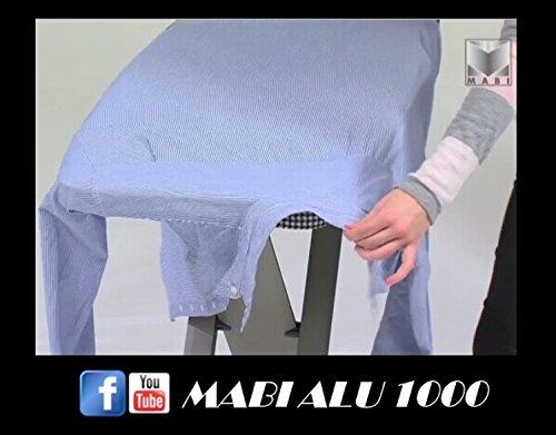 Mabi 2144 Bügeltisch Alu Design 1000 – Streckmetall-Bügeltisch – Hochwertiges Alugestell – Leicht – Portabel – Groß – Standfest – Kettler Spezial-Alu-Bügelbezug – Frei Positionierbare Bügeleisenablage - 5