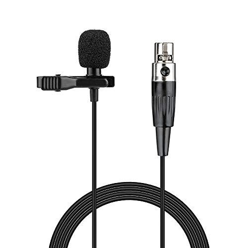 Samje Pro Condenser Lavalier Risvolto Clip su microfono condensatore cardioide per Shure Wireless Transmitter Bodypack