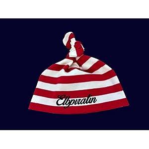 Maritime Babymütze Elbpiratin - fair - Knotenmütze Babymütze Mütze rot/weiß gestreift