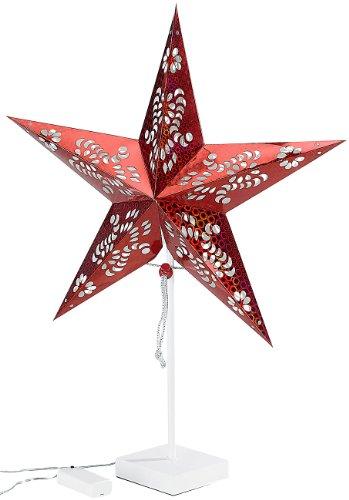 Lunartec Weihnachtsstern: Deko-Tischleuchte in Sternform, rot (Stern)