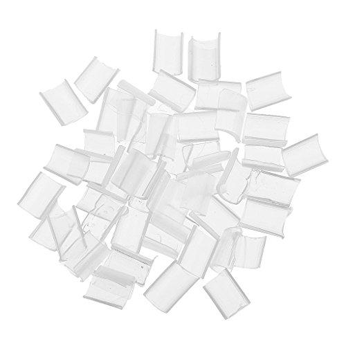 Tip Extensions Keratin Hair U (Gazechimp 50 Stück Keratin Bondings, Ersatzbondings U-Tip Hair Extensions Haarverlängerung Strähnen Bondings - Weiß)