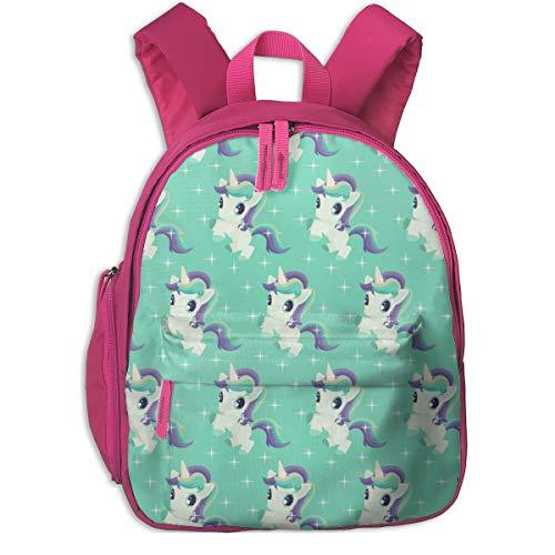Kinderrucksack mädchen,Sparkly Blue Unicorn_3846 - roofdog_Designs, Für Kinderschulen Oxfordstoff (pink)
