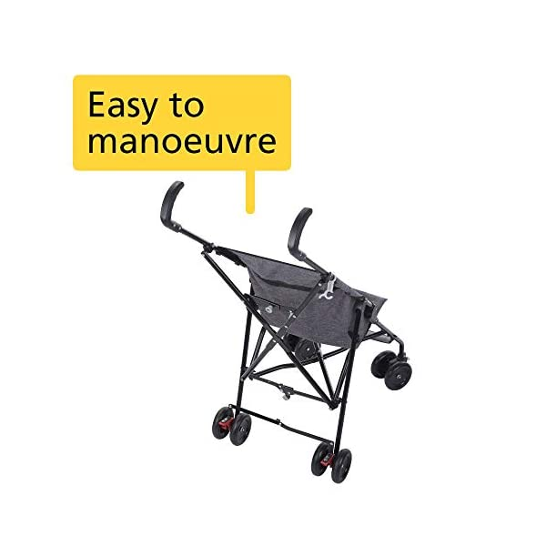 Safety 1st Peps Lightweight Buggy - 6 Months - 15kg Safety 1st Lightweight, only weighing 4.5kg so it's easy to carry Suspension on front wheels for a smooth ride Highly manoeuvrable with the swivelling front wheels 4