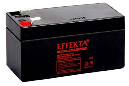 Effekta AGM Akku Batterie Typ BT 12-3,2   12V 3,2Ah  Anschluß 4,75 mm