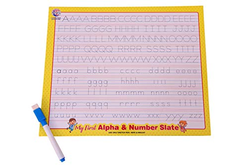 RATNA'S Educational My First Alpha and Number Slate Deluxe Superior Quality for Kids to Start Their Preschool Learning at Home