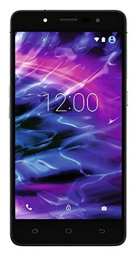 MEDION S5004 Smartphone (12,7 cm (5 Zoll) HD Touchscreen-Display, LTE, 13 Megapixel Rückkamera, 5 Megapixel Frontkamera , Octa-Core-Prozessor, Dual-SIM, 16GB interner Speicher bis zu 64 GB erweiterbar, Android Lollipop 5.1) schwarz