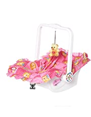 Archana NHR Multipurpose 7 in 1 Baby Carry Cot with Mosquito Net and Sun Shade (Pink)