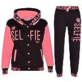 A2Z 4 Kids Enfants Filles Néon Rosé Survêtement - T.S Selfie 004 Neon Pink_9-10