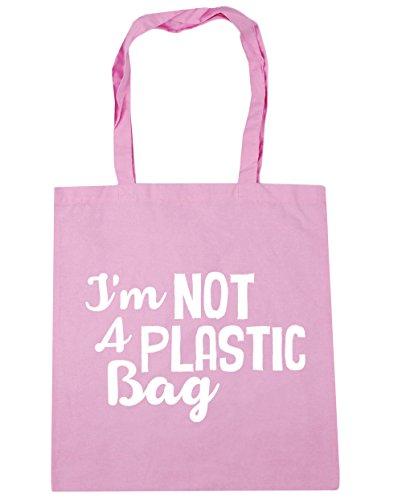 hippowarehouse nicht einer Kunststoff Tasche Tote Shopping Gym Beach Bag 42cm 3838, 10Liter, Classic Pink, One Size (Tote Pink Stripe Handtasche)