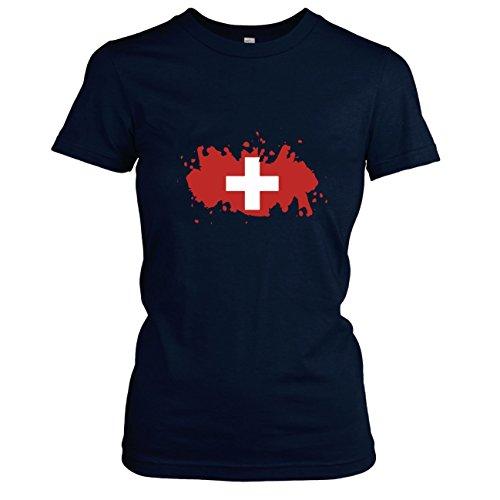 TEXLAB - Splash Schweiz - Damen T-Shirt, Größe XL, (Kostüme Pro Maskottchen)