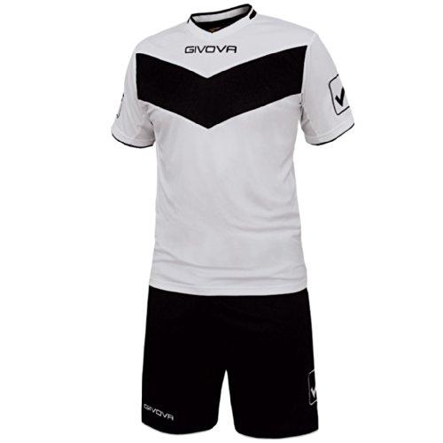Givova Sieg, Kit Fußball Multicolore (Bianco/Nero)