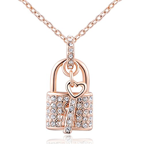 joyliveCY Elegant Women Charm Lady Jewelry Pendant Rose Gold Century Blockade Chain Necklace