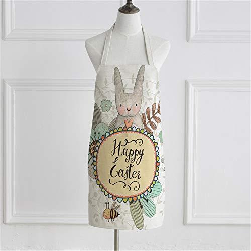 YXDZ Grembiule di Fiori Coniglio Carino Manica Tessuto Cucina di Casa Grembiule da Cuoco Cucinare Grembiule da Cuoco per Uomo E Donna Vita 11