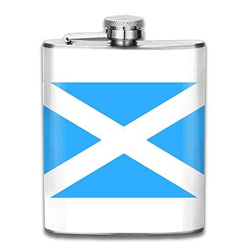 deyhfef 7oz Stainless Steel Hip Flask Flag of Scotland Liquor Flagon Wiskey Wine Pot - Flask Pots