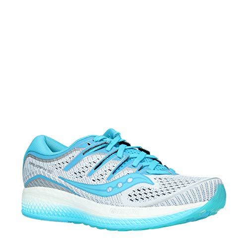 Saucony Triumph ISO 5, Running Shoes for Women, Blue (White / Blue 36), 38.5 EU