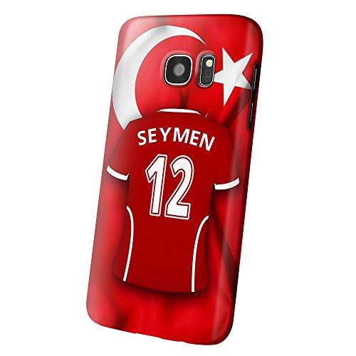PhotoFancy Samsung Galaxy S7 Handyhülle Premium – Personalisierte Hülle mit Namen Seymen – Case mit Design Fußball-Trikot Türkei zur WM in Russland 2018