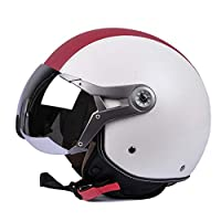 ‏‪Motorcycle Scooter Open Face Helmet,Sun Visor Quick Release Buckle for Men Women,XL‬‏