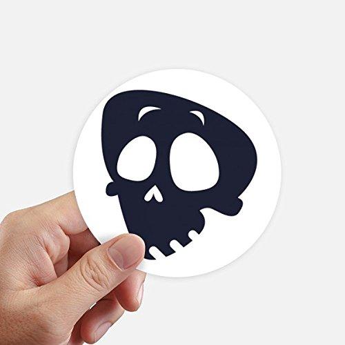 moji Halloween-Schädel-Aufkleber 10Cm Wand Koffer Laptop Motobike Aufkleber 8Pcs Diameter 10cm Mehrfarbig ()
