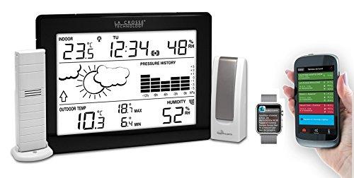 41TXG9GBmTL [Bon Netatmo !  La Crosse Technology - Kit Mobile Alerts MA10006 station météo connectée complète avec passerelle - Noir
