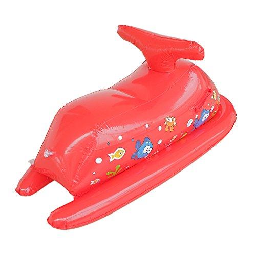 Aufblasbares Spielzeug - Motorboot 80 x 80cm Kinder Bootssitz Rot