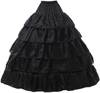 Bridal _ Mall Mujer alzapaños (Petticoat krinoline para vestido de novia Vestidos de noche largo