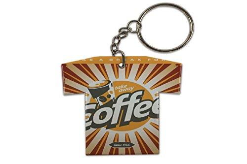 Schlüsselanhänger Fun Küche Kaffeepause Trikot Bedruckt -