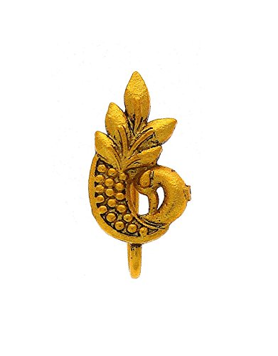 Anuradha Art Golden Finish Peacock Styled Wonderful Traditional Studs Nose Ring/Pin For Women/Girls