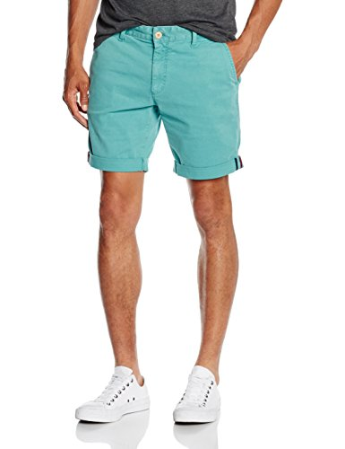 Hilfiger Denim Original Straight Short 1 Ftst GD, Pantaloncini Uomo, Grün (Teal 441), W32