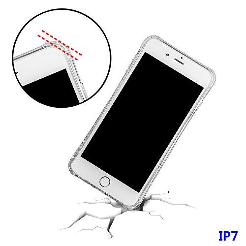 """xhorizon FM8 Elegant Transparent TPU Weich 360 Grad Rotating Kickstand Case Cover für iPhone 7 [4.7""""] mit einem 9H temperiert Glasfilm (Rose-gold) Rose-gold"""