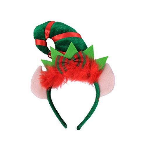 Frcolor Weihnachten Elf Hut Stirnband Santa Stirnband für Kinder Kostüm Zubehör Party Gefälligkeiten (Santa, Elf Hut)