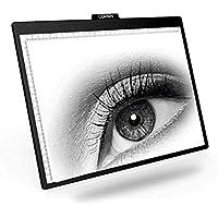 Tablero de dibujo LED, A2/A3/A4 Super delgado LED de dibujo copia caja de luz de rastreo con brillo ajustable tatuaje dibujo arquitectura caligrafía manualidades para artistas, dibujo, dibujo A4 negro
