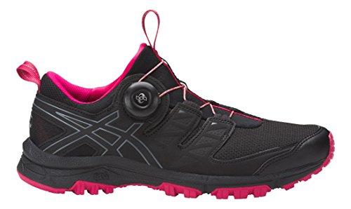 Asics Chaussures de Course New Gel-Fujirado Womens Trail Chaussures de Sport Noir/Carbon