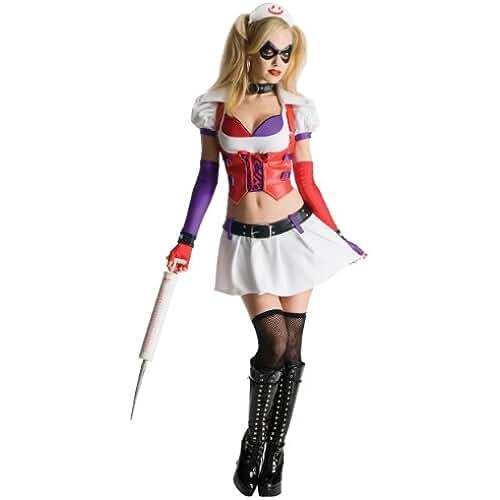 Generique Disfraz Harley Quinn enfermera Arkham City mujer S