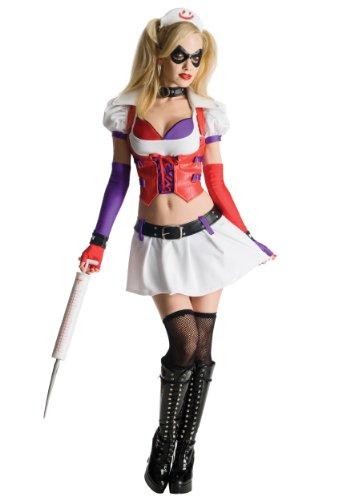 Generique - Harley Quinn Krankenschwester Kostüm für Damen aus Batman Arkham City - Batman Arkham City Kostüm