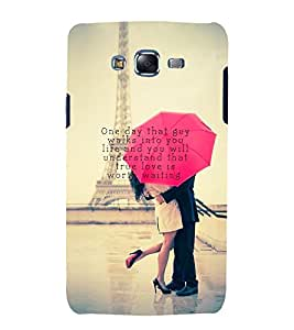 Vizagbeats Lovers at Eiffel Tower Back Case Cover for Samsung Galaxy J7::Samsung J7 2015