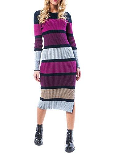 Vila Visolda L / S Strickkleid Multicolor Frauen S Mehrfarbig