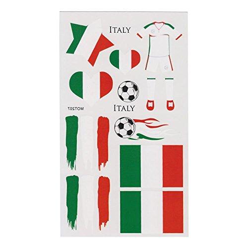 LIHAO Fan-Schminke Italien für EM 2017 Flagge Tätowierungen Fußball Weltmeisterschaft (4 Stk.) (Trikot Italien Baseball)
