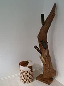 kawola weins ule weinregal aus teakholz massivholz k che haushalt. Black Bedroom Furniture Sets. Home Design Ideas