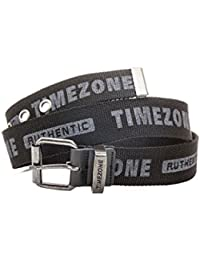 Timezone Herren Gürtel 20-0092 Army font belt