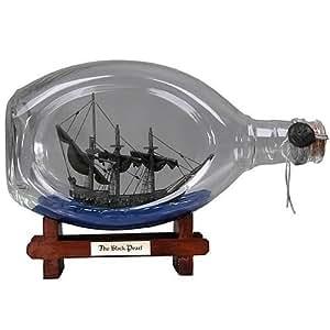 Pirates des Caraibes Black Pearl 22cm Bâteau dans une bouteille