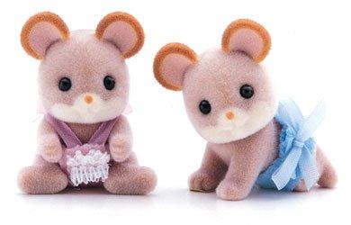 Sylvanian Families Maces Mouse Twin Babies