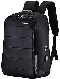 20157f2ef Mochila para computadora portátil, mochila de nylon de negocios Bolso  bandolera grande, informal,