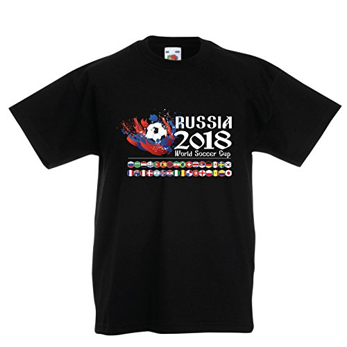 lepni.me Kids T-Shirt Russia 2018 World Soccer Cup, All 32 National Football Team Flags