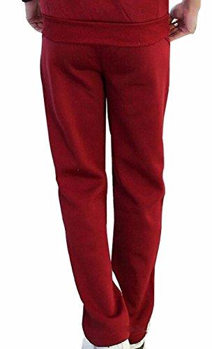 I VVEEL Uomo Pantaloni corti pantaloni sudati del cotone dello sport baggy Rosso