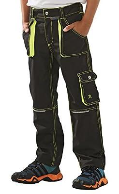 6110 Planam Junior Bundhose anthrazit/gelb