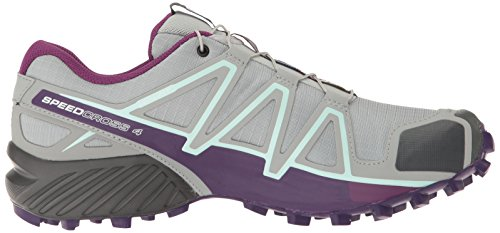 Salomon Speedcross 4 W, Scarpe da Escursionismo Donna Grigio (Quarry Acai/Fair Aqua)