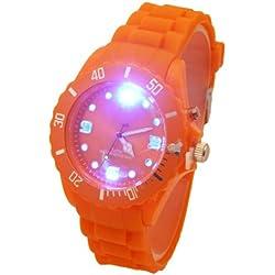 Leuchtende Disco Armbanduhr ORANGE F4-2/7