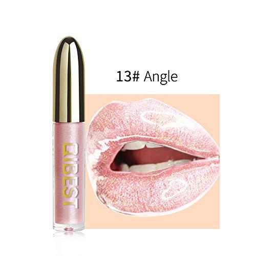 Huihong QIBEST 28 Schattierungen Lipgloss Mode Glitter Flip Metallischen Süßigkeiten Glänzend Flüssigen Lippenstift, Wasserdicht Und Langlebig (M) - Flip-maniküre-set