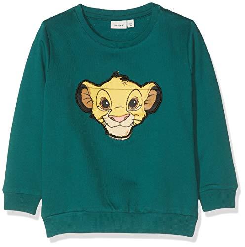 NAME IT Baby-Jungen NMMLIONKING SADI SWE BRU WDI Sweatshirt, Grün (Bayberry Bayberry), (Herstellergröße: 98)